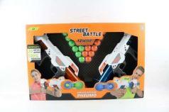 1toy Street Battle игр оружие с мягкими шариками (в компл. 2 пист., 20 шар. 3,4 см), короб.
