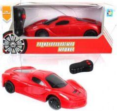 1toy Спортавто Машина на радиоуправлении, масштаб 1:26, 27 МГц, 17 см, на батарейках, 2 канала, красная