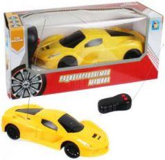 1toy Спортавто Машина на радиоуправлении, масштаб 1:26, 27 МГц, 17 см, на батарейках, 2 канала, желтая