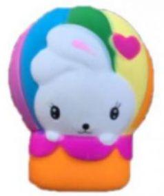 """Антистрессовая игрушка зайка 1toy """"М-м-мняшка. Зайчик в воздушном шаре"""" вспененный полимер 10 см"""