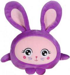 Мягкая игрушка зайка 1toy Т14198 текстиль фиолетовый 20 см