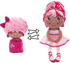 """Мягкая игрушка кукла 1toy """"Девчушка-Вывернушка. Катюшка"""" плюш розовый"""
