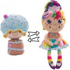 """Мягкая игрушка кукла 1toy """"Девчушка-Вывернушка. Настюшка"""" текстиль 38 см"""