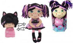 """Мягкая игрушка кукла 1toy """"Девчушка-Вывернушка. Танюшка"""" текстиль 38 см"""