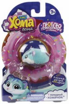 """Хома Дома""  1 хомячок голубой, хомячок 5х3,2х3 см, размер упак 17х12х5,1"