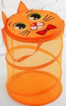 Корзина для игрушек Котик, с ручками и крышкой, 33 х 43 см