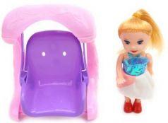 Кукла 10см на качелях, пакет