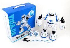 Робот радиоуправляемый Наша Игрушка Робот р/у 36 см двигающийся на радиоуправлении со звуком светящийся стреляющий