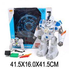 Робот радиоуправляемый Наша Игрушка Робот р/у 41.5 см на радиоуправлении со звуком светящийся