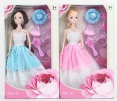 Кукла 29 см в платье с 6шт аксессуаров, в ассортименте