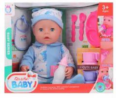 Кукла Наша Игрушка Мой малыш 40 см со звуком смеющаяся