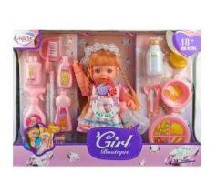 Кукла Наша Игрушка Кукла Адель 35 см со звуком пьющая писающая смеющаяся