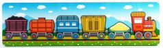 Развивающая рамка Нескучные игры Паровозик с вагончиками