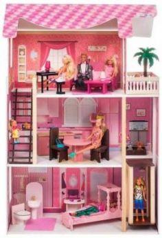 Кукольный домик Монте-Роза, для кукол до 30 см (19 предметов мебели и интерьера)