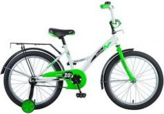"""Велосипед Novatrack """"Strike"""" 20"""" бело-зеленый"""