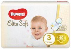 HUGGIES Подгузники Элит Софт 3 5-9кг 40 шт.
