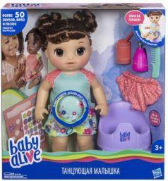 Игрушка Hasbro Baby Alive кукла Танцующая Малышка Шатенка