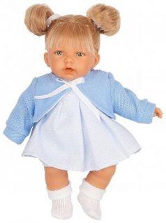 Кукла JUAN ANTONIO Дели в голубом 27 см со звуком
