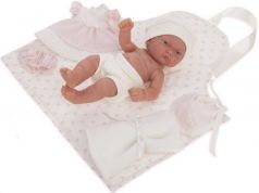 Кукла-младенец JUAN ANTONIO Хлои в розовом 26 см