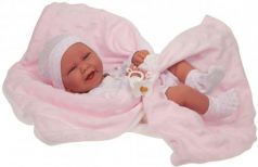 Кукла-младенец JUAN ANTONIO Ирен в розовом 42 см