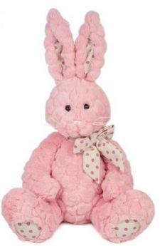 Мягкая игрушка Зайка Пинки MAXITOYS MT-TS102017-7-22 искусственный мех трикотаж розовый 22 см