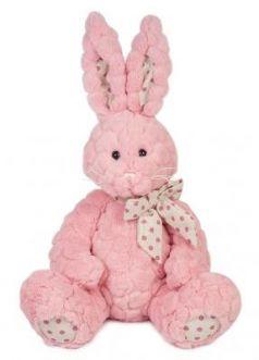 Мягкая игрушка Зайка Пинки MAXITOYS MT-TS112017-4-30S искусственный мех текстиль розовый 30 см