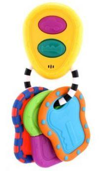 Погремушка SASSY Брелок с ключами музыкальная с прорезывателем