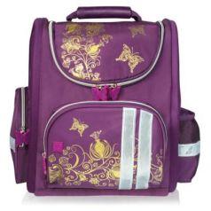 Ранец светоотражающие материалы BRAUBERG Цветы 16 л фиолетовый