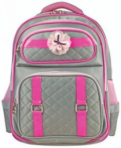 Рюкзак ручка для переноски BRAUBERG Рюкзак BRAUBERG для учениц начальной школы 14 л серый