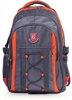 """Рюкзак ручка для переноски BRAUBERG Рюкзак для школы и офиса BRAUBERG """"SpeedWay 1"""" 25 л серый оранжевый"""