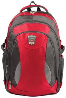 "Рюкзак ручка для переноски BRAUBERG Рюкзак для школы и офиса BRAUBERG ""StreetBall 1"" 30 л серый красный"