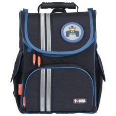 Ранец светоотражающие материалы Tiger Family Cool Blue 13 л черный