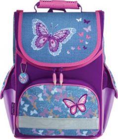 Ранец светоотражающие материалы Tiger Family Denim Butterflies 13 л фиолетовый