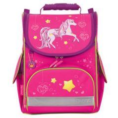 Ранец светоотражающие материалы Tiger Family Лошадка 13 л розовый
