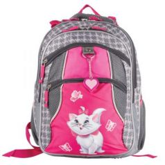 """Рюкзак ERICH KRAUSE для учениц начальной школы, серый, """"Cat Marie"""", 38х28х14 см, 39315"""