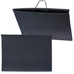 Папка для рисунков и чертежей, А2, 640х470 мм, с ручками, пластиковая, черная, ПМ-А2-35