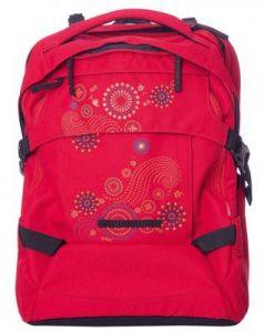 Городской рюкзак дышащая спинка 4YOU Tight Fit. Геометрическое солнце 26 л малиновый