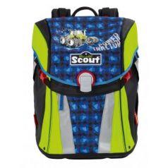 Ранец ортопедический Scout Sunny Трактор с наполнением 15.5 л синий