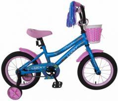 """Велосипед Navigator LUCKY 14"""" голубой-розовый ВН14175"""