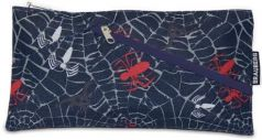 Пенал-косметичка BRAUBERG для учеников начальной школы, синий, паутина, 22х11 см, 223902