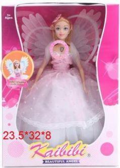 """Кукла """"Ангел"""", крылышки светятся при нажатии на кнопку, в/к 23,5*32*8 см"""
