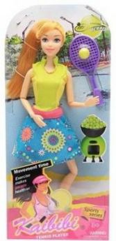 """Кукла """"Теннисистка"""", шарнирные руки и ноги, в/к 16*32,5*6,3 см"""