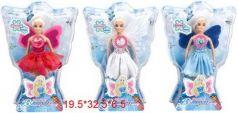"""Кукла """"Фея"""", крылышки светятся при нажатии на кнопку, высота 27 см., в/к 19,5*32,5*6,5 см"""