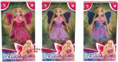 """Кукла """"Фея"""", крылышки светятся при нажатии на кнопку, цвета в ассортименте, в/к 32*18*8 см"""