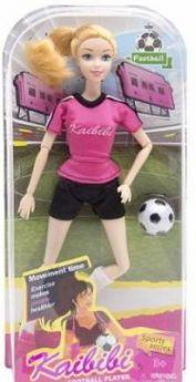 """Кукла """"Футболистка"""", шарнирные руки и ноги, в/к 16*32,5*6,3 см"""