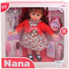 Кукла, 12 звуков, набор аксессуаров для игры в парикмахера, 38*10*37 см