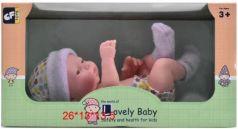 Пупс-новорожденный, soft touch покрытие пластика - приятное на ощупь, в/к 26*13*13,5 см