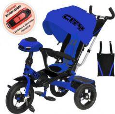 Велосипед CITY трёхколёсный 12*/10* синий