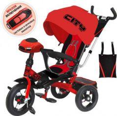 Велосипед CITY трёхколёсный 12*/10* красный