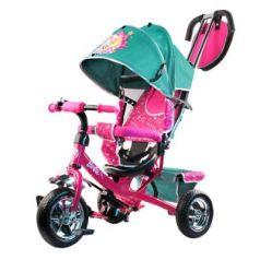 "Велосипед-коляска Barbie (Mattel) Велосипед-коляска 10""/8"" бирюзовый"